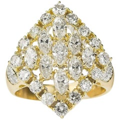 18 Karat Diamond Cluster Ring
