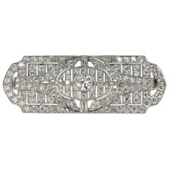 Platinum Hayden W. Wheeler & Co Art Deco Brooch, circa 1930s