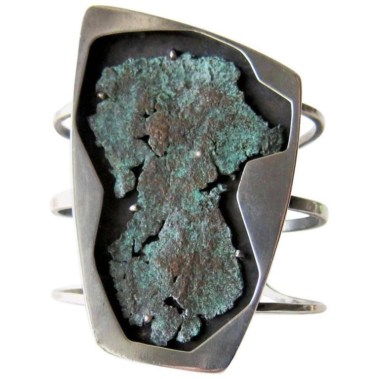 Rare Raymond Graves Sterling Silver Shadowbox Cuff Bracelet