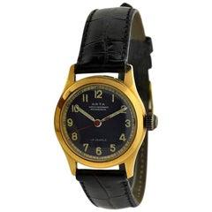 Arta Yellow Gold Original Dial Manual Wind Watch, 1950s