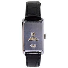Mimo by Otto Graef Chromium Art Deco Digital Manual Wristwatch, 1930s