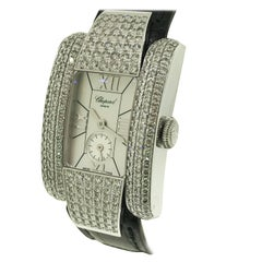 Chopard La Strada White Gold Diamond Leather Band Ladies Watch 41/6847 Brand New