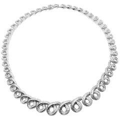Damiani 8 Carat Diamond White Gold Necklace