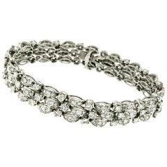 Art Deco 9 Carat Diamond Platinum Bracelet