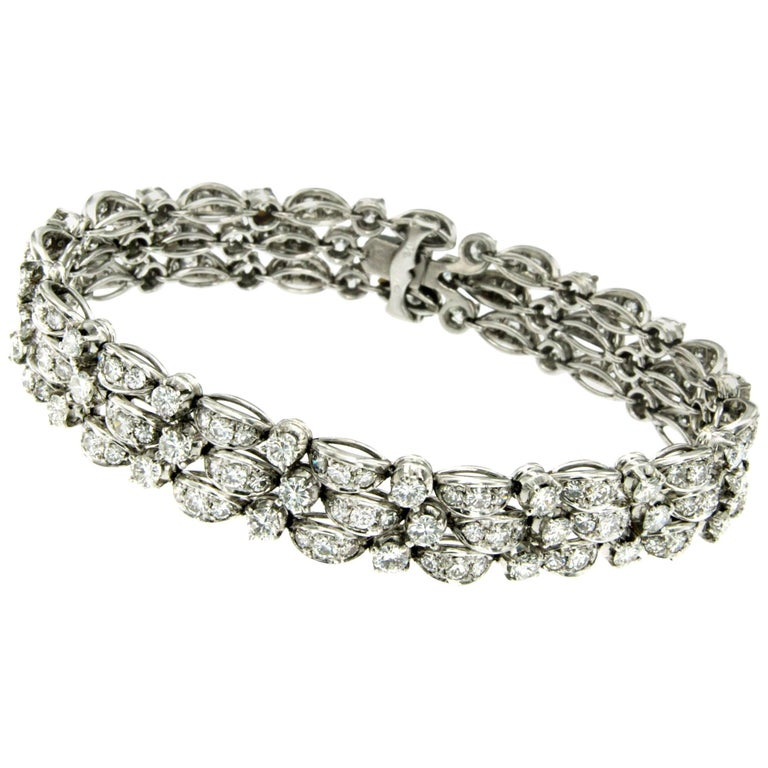 Art Deco 9 Carat Diamond Platinum Bracelet