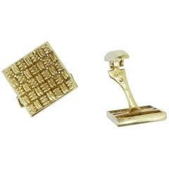 Lalaounis 18 Carat Yellow Gold Panel Cufflinks