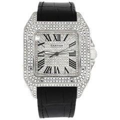 Cartier Santos 100 Diamond Case, Dial and Buckle