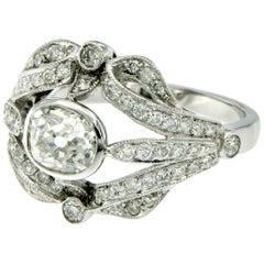 Art Deco Diamond Gold Engagement Ring