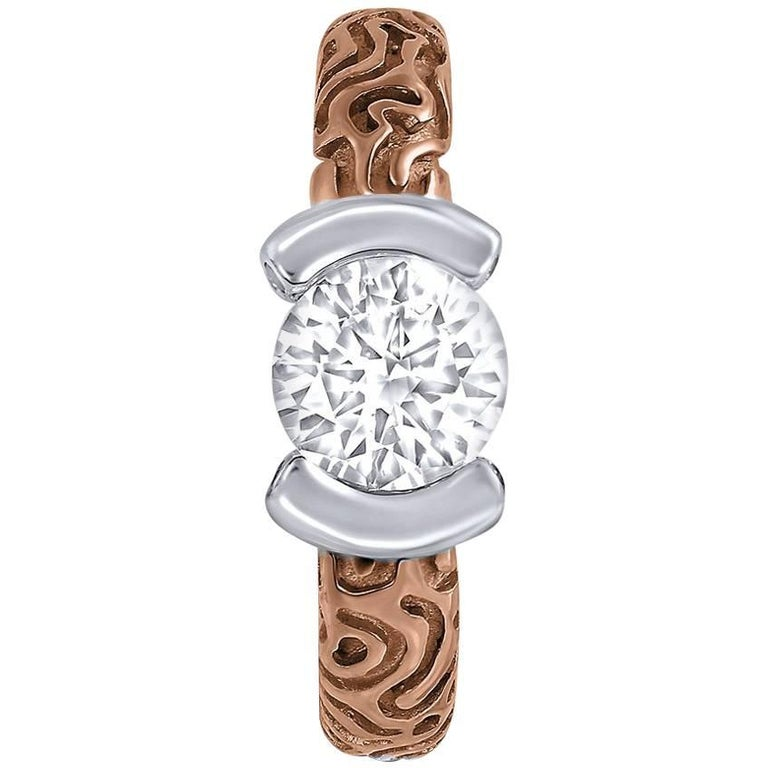 Diamond Rose Gold Valentine Ring