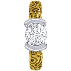 Diamond Gold Valentine Ring