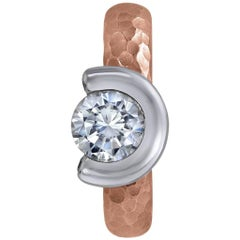 Diamond Rose Gold Valentine Ring One of a Kind