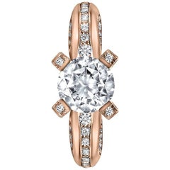 Alex Soldier Diamond Rose Gold Modern Sensuality Ring