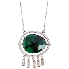 Emerald and Diamond Tassel Necklace