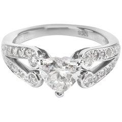 Cartier Heart Shaped Diamond Engagement Ring in Platinum 1.62 Carat