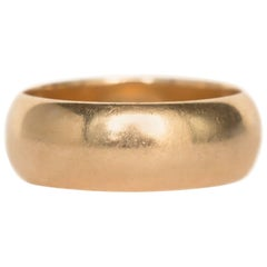 1940 Art Deco 14 Karat Yellow Gold Wedding Band