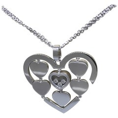 Chopard Amore Hearts 18 Karat Gold and Diamond Pendant Necklace 79/7220-1001