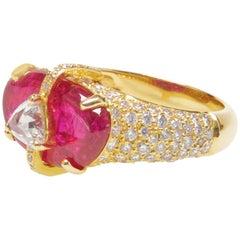 Ruby Slice Diamond Ring