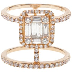 Double Bar Diamond Ring