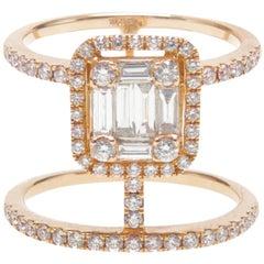 Double Bar Diamond Ring