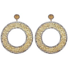 Extravagant Diamond and Gold Earring