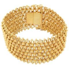 14 Karat Yellow Gold Geometric Bracelet