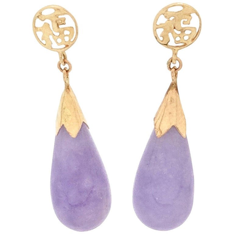 chic jade fresh real purple boutique earring products and water earrings