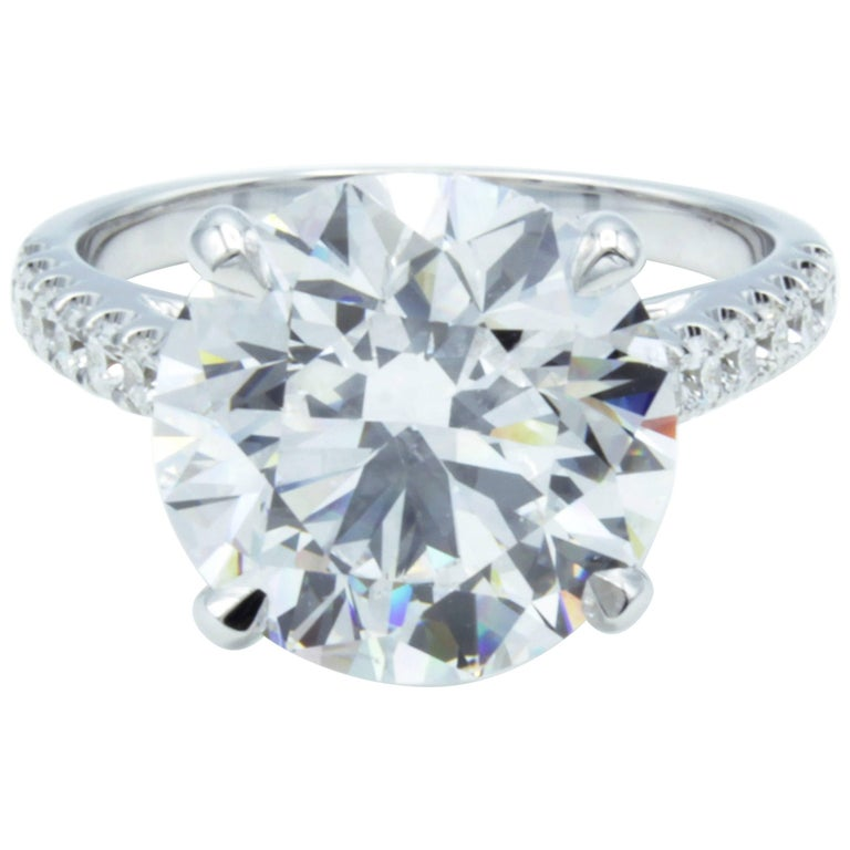 David Rosenberg GIA 6 Carat Round D/VS2 18kt White Gold Diamond Engagement Ring