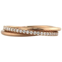 Mark Broumand 0.45 Carat Round Brilliant Diamond Trinity Eternity Ring