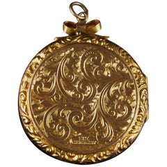 Antique Victorian 9 Carat Gold Locket, circa 1900