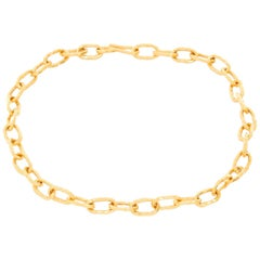 Jean Mahie 22 Karat Yellow Gold Link Necklace