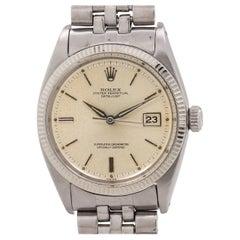 Rolex white gold stainless steel Datejust self winding wristwatch Ref 1601 c1961