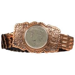 Bell Trading Post Peace Dollar Copper Belt, 1923
