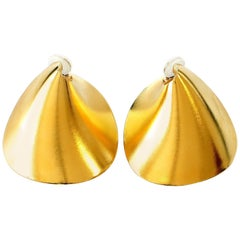 Jar Large Gold Aluminium Earrings