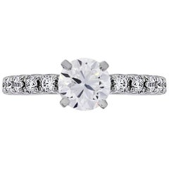 GIA Certified Round Brilliant Diamond Engagement Ring
