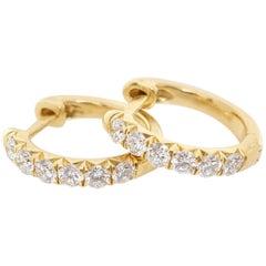 Jude Frances Pave Diamond Hoop Earrings