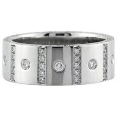 Mark Broumand Men's 1.90 Carat Round Brilliant Cut Diamond Wedding Band