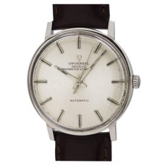 Universal stainless steel Geneve Polerouter Compact automatic wristwatch