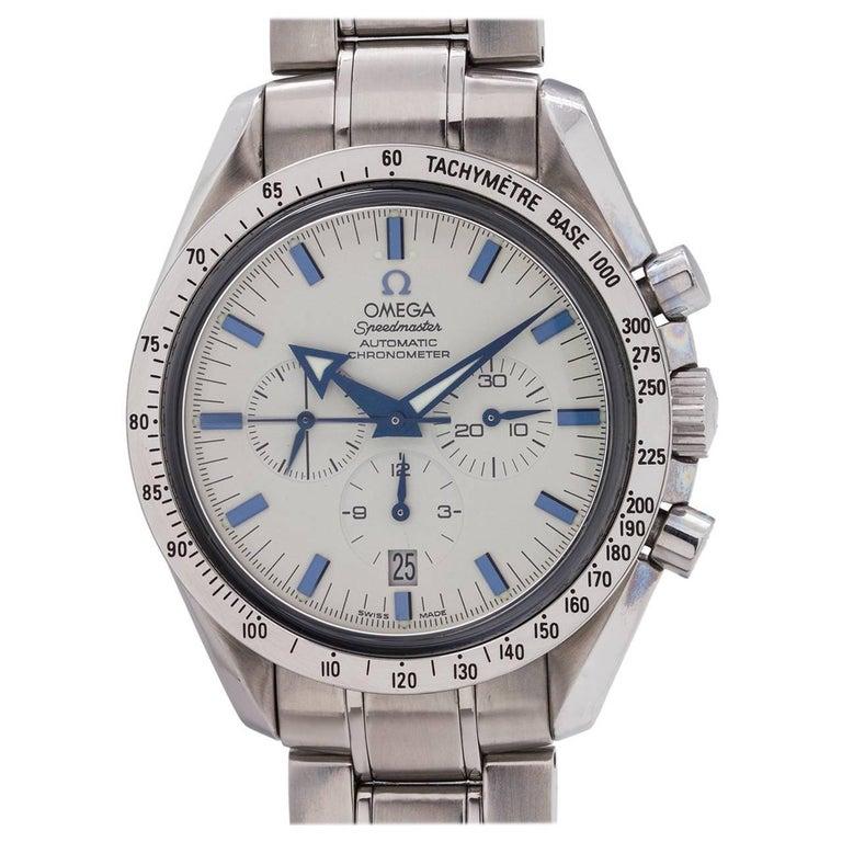 Omega Stainless steel Speedmaster Broad Arrow automatic wristwatch, circa 2000s