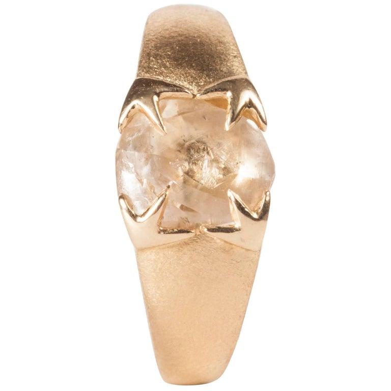 2.14 Carat Rough White Diamond Gold Cocktail Ring