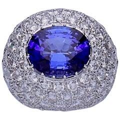 Tanzanite Diamond Cocktail Ring