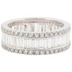 Mappin & Webb Platinum and Diamond Triple Eternity Ring