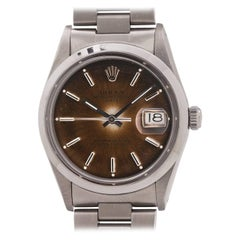 Rolex stainless steel Oyster Perpetual Date Self Winding Wristwatch Ref 15000