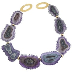 Exquisite Amethyst Stalagmite Statement Necklace