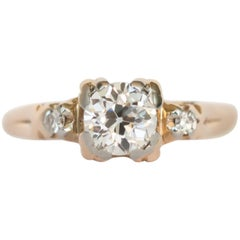 .65 Carat Diamond Yellow Gold Engagement Ring