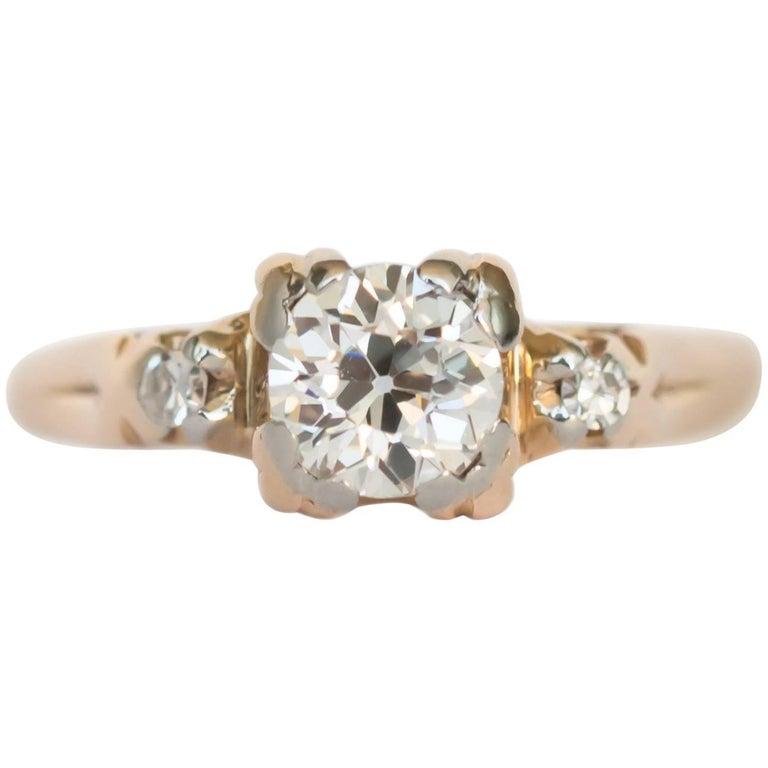 .65 Carat Diamond Yellow Gold Engagement Ring