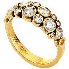 Alex Sepkus Gold and Natural Diamond Ring