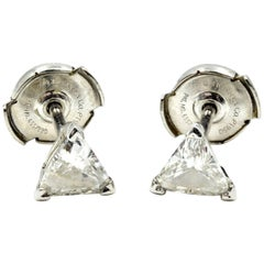Tiffany & Co. Platinum Trilliant Diamond Stud Earrings