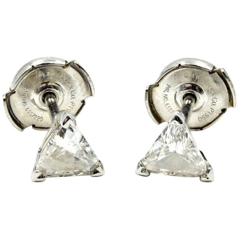 Tiffany & Co. Platinum Trilliant Diamond Stud Earrings