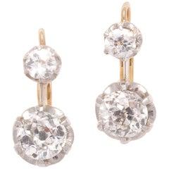 Diamond Platinum Gold Earrings