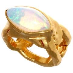 French Retro Opal 22 Karat Gold Ring